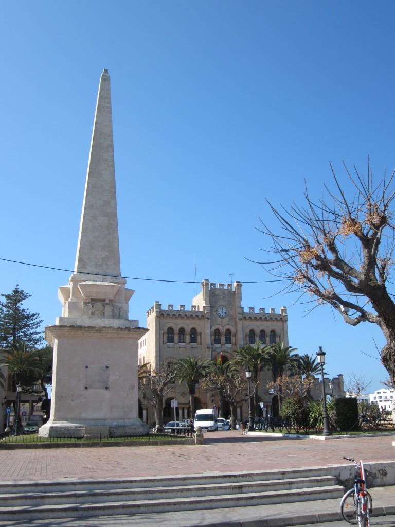 Obelisco conmemorativo del saqueo de Ciutadella de Menorca por los turcos, en 1558